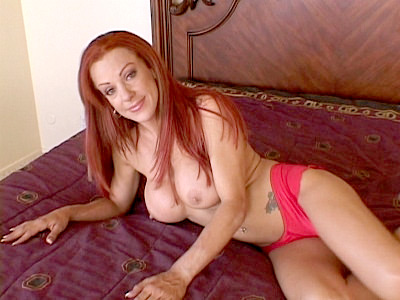 Redhead Wife Showing Off Her Knockers